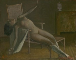 Nude on a Chaise Longue 1950 by Balthus (Balthasar Klossowski de Rola) 1908-2001
